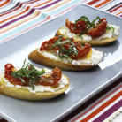 Bruschetta with Sun Blush Tomatoes and Goat's Cheese