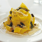 Pappardelle with Fried Basil