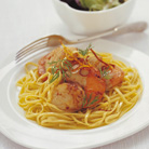Fresh Pasta with Lemon Scallops