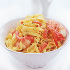 Pasta with Prawns and Red Pepper