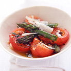 Olive Oil Roasted Tomatoes  with Asparagus