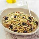 Spaghetti with Anchovy and Olive