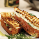 Toasted Mozzarella and Tomato Sandwich