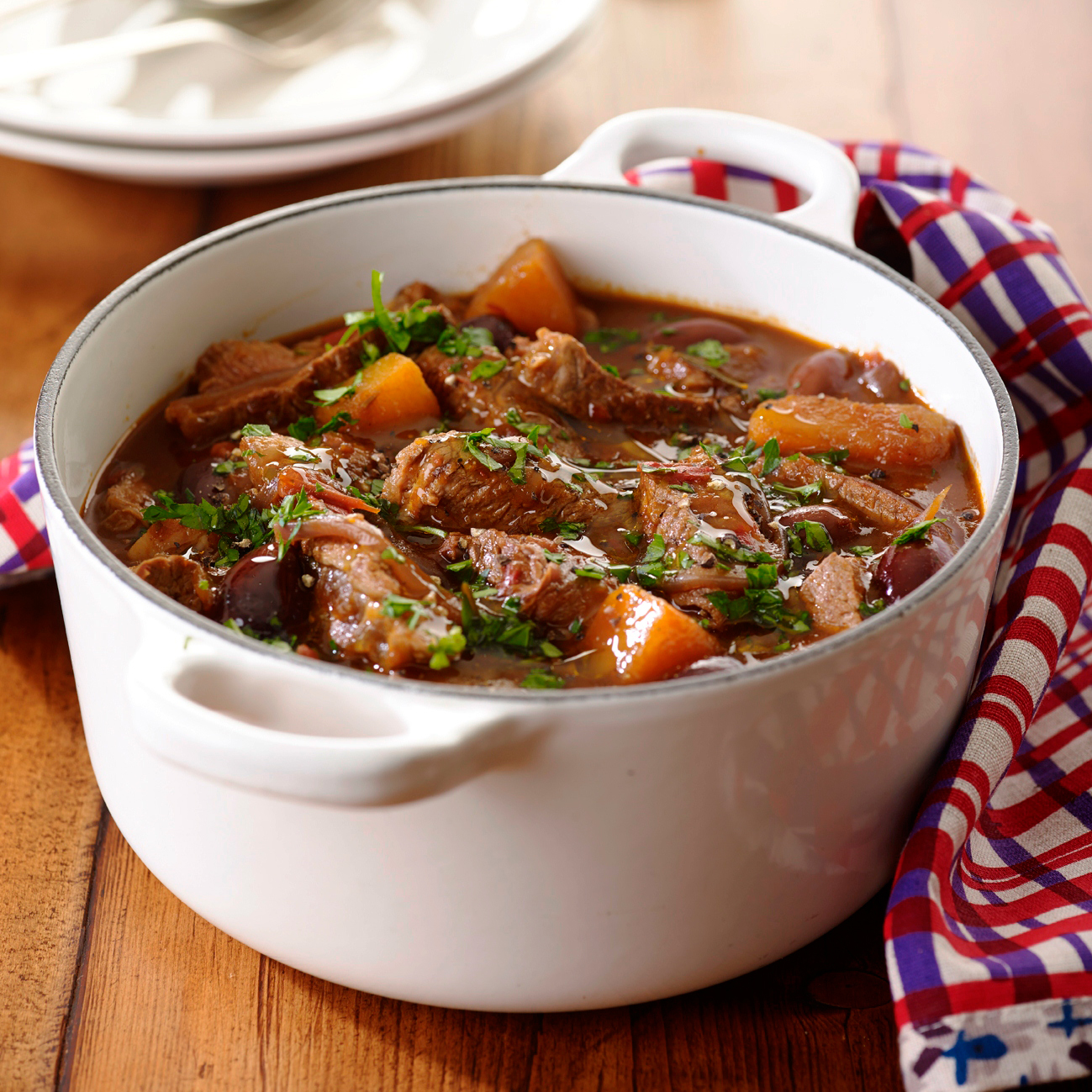 Quick italian beef stew with pesto | Filippo Berio