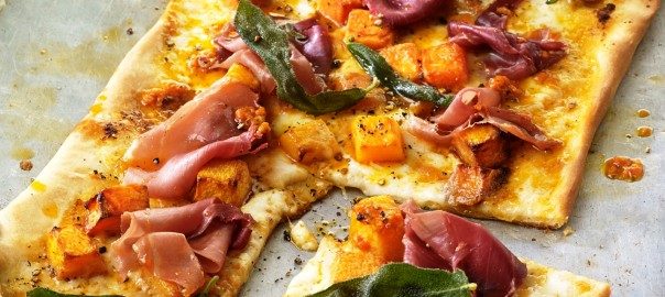 Pizza Pumpkin and Proscuitto