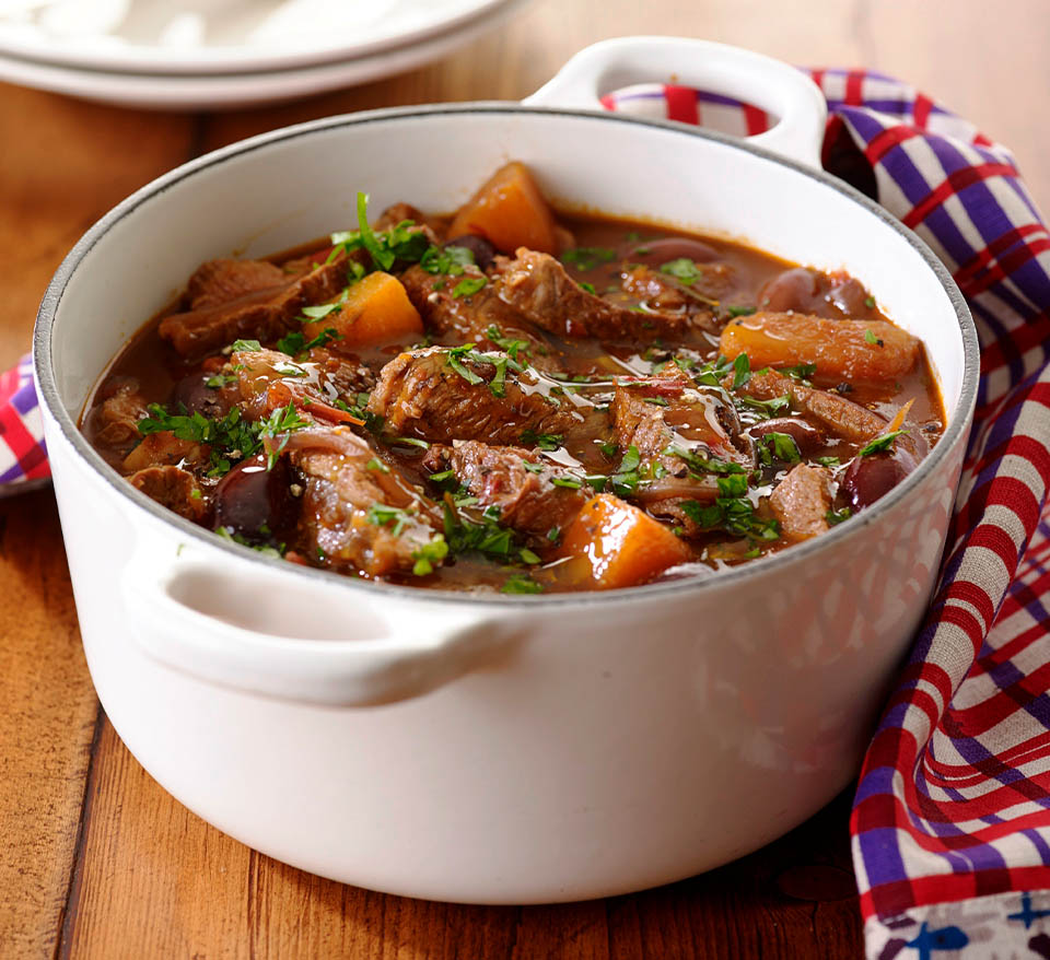 Quick italian beef stew with