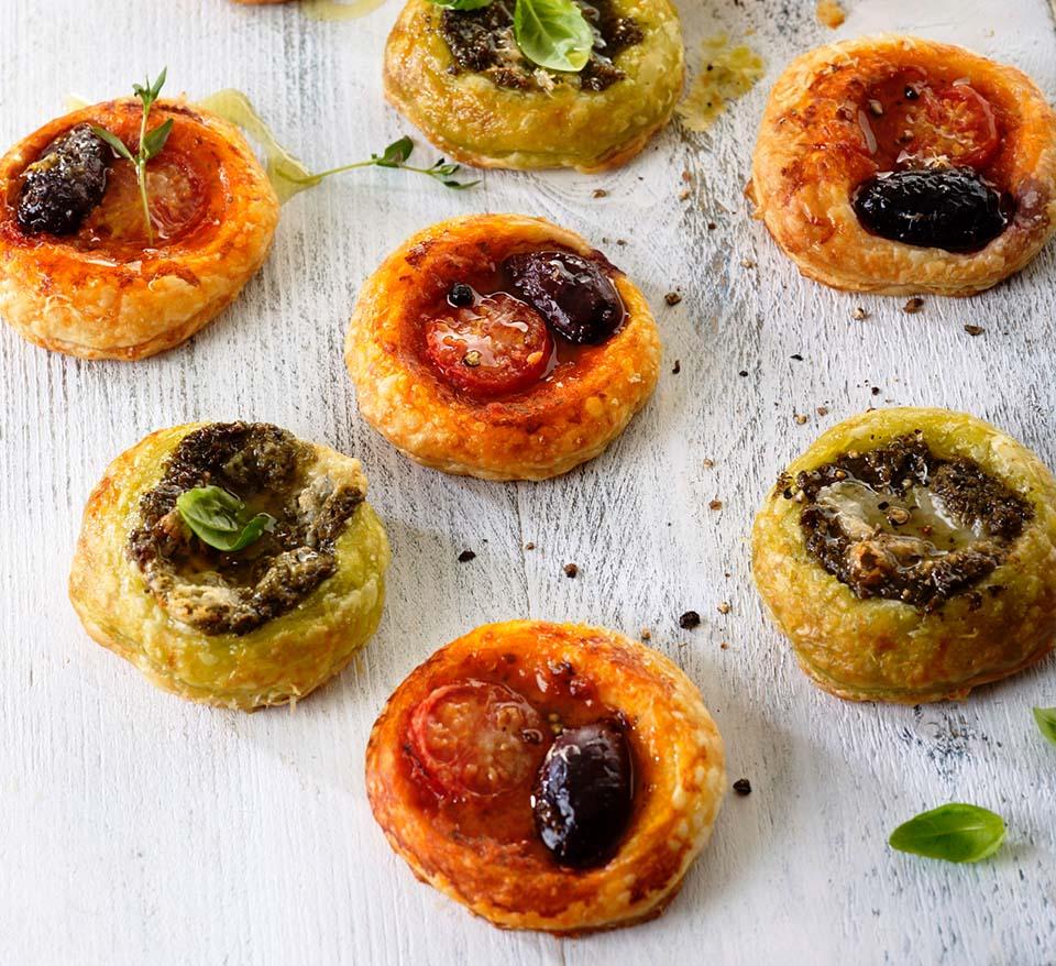 Puff Pastry Pesto Bites