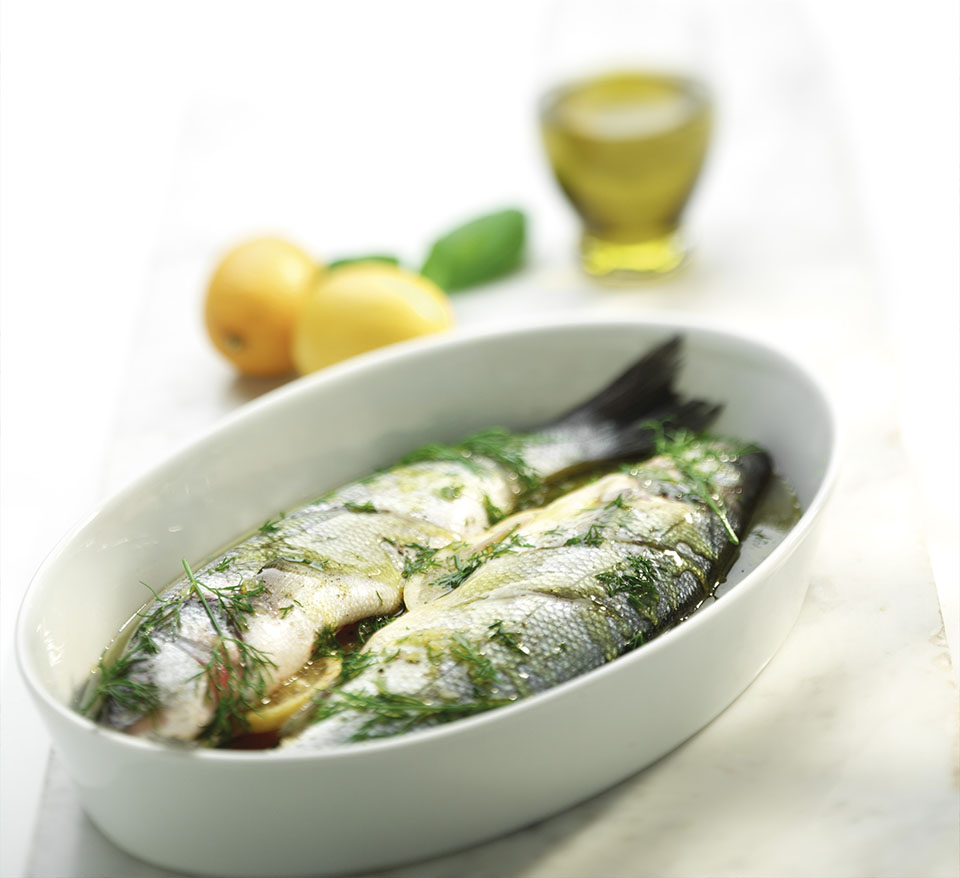 Sea Bass with Lemon and Dill