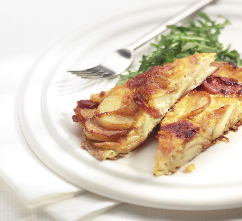 Spanish Omelette with Chorizo