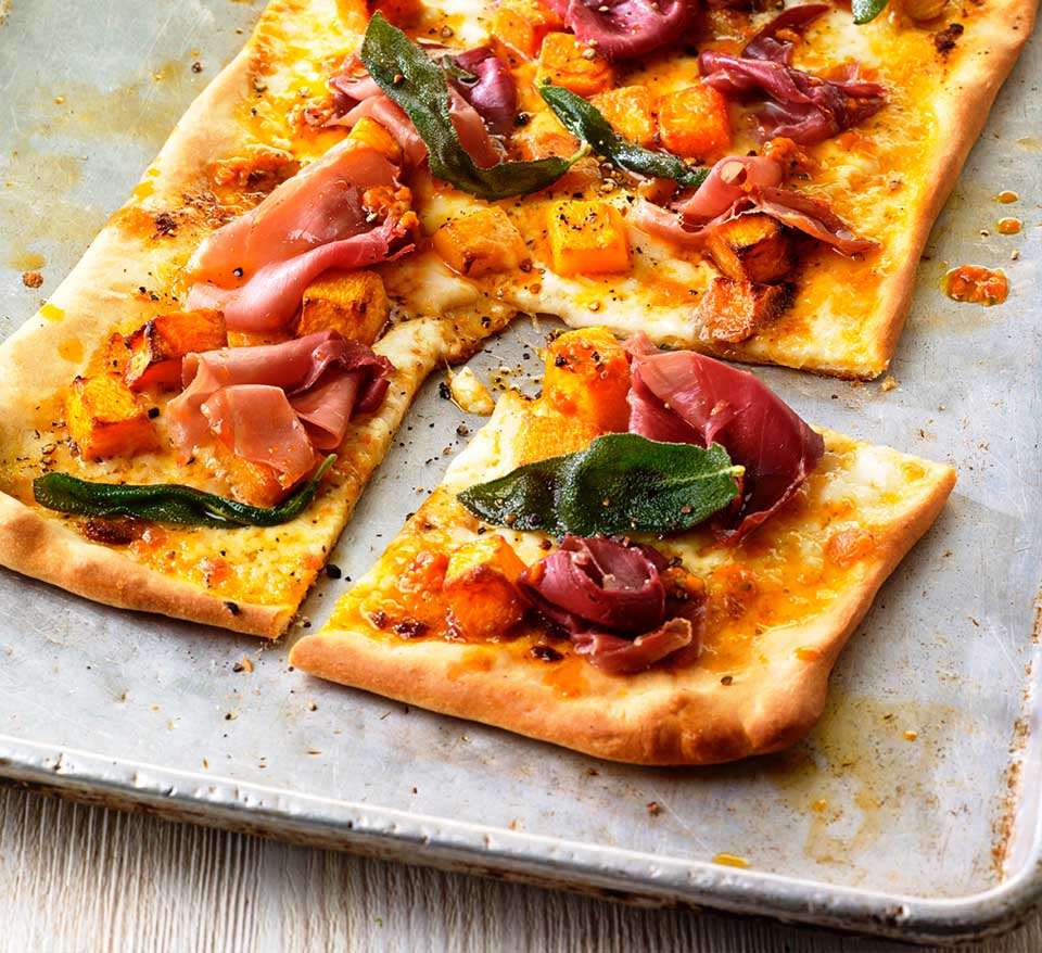 Street Pizza with Squash, Sage