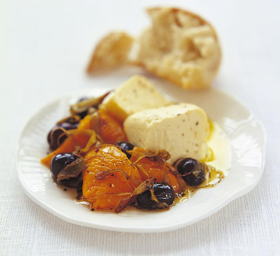 Warm Salad of Sautéed Black Olives