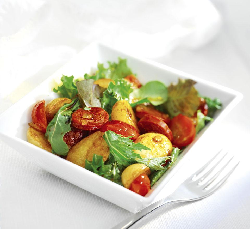 Warm Potato and Chorizo Salad