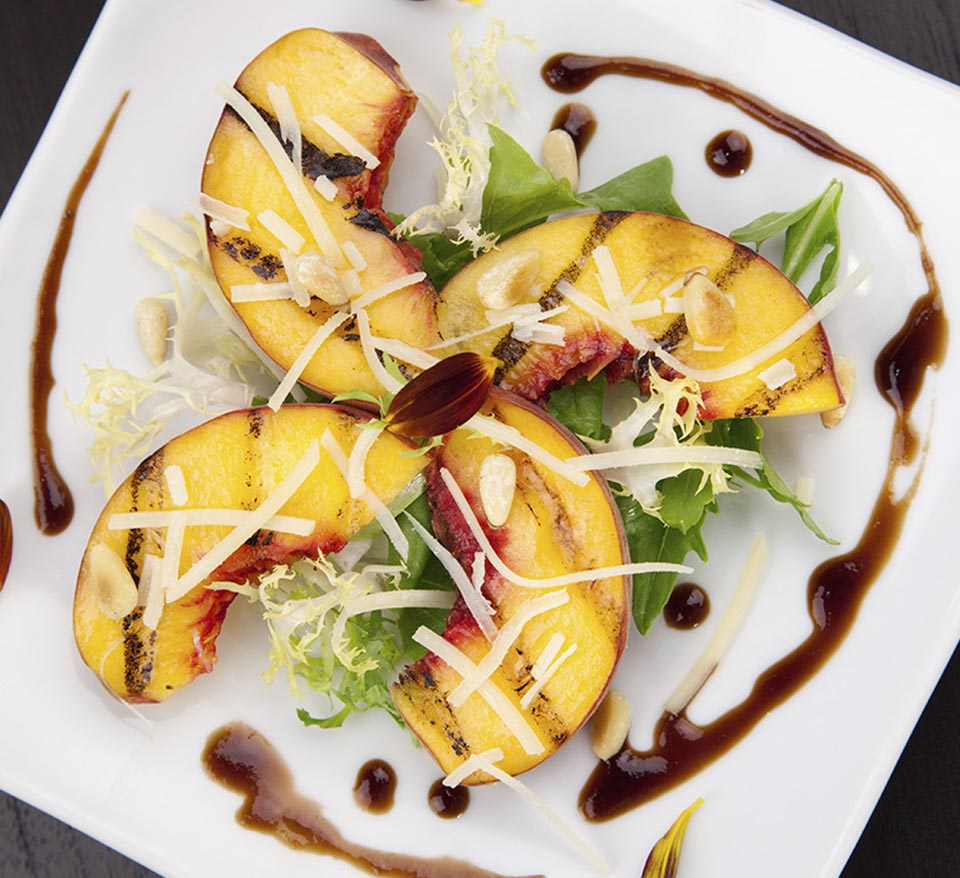 Grilled Fruit with Balsamic Glaze