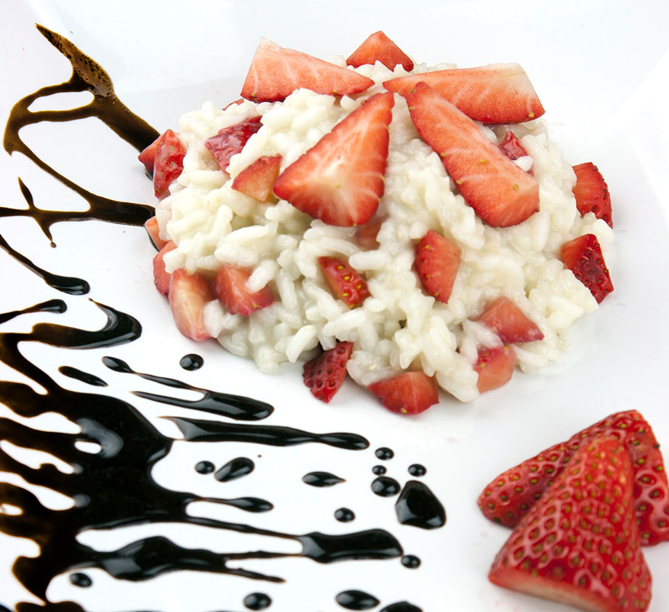 Strawberry and Balsamic Glaze Risotto
