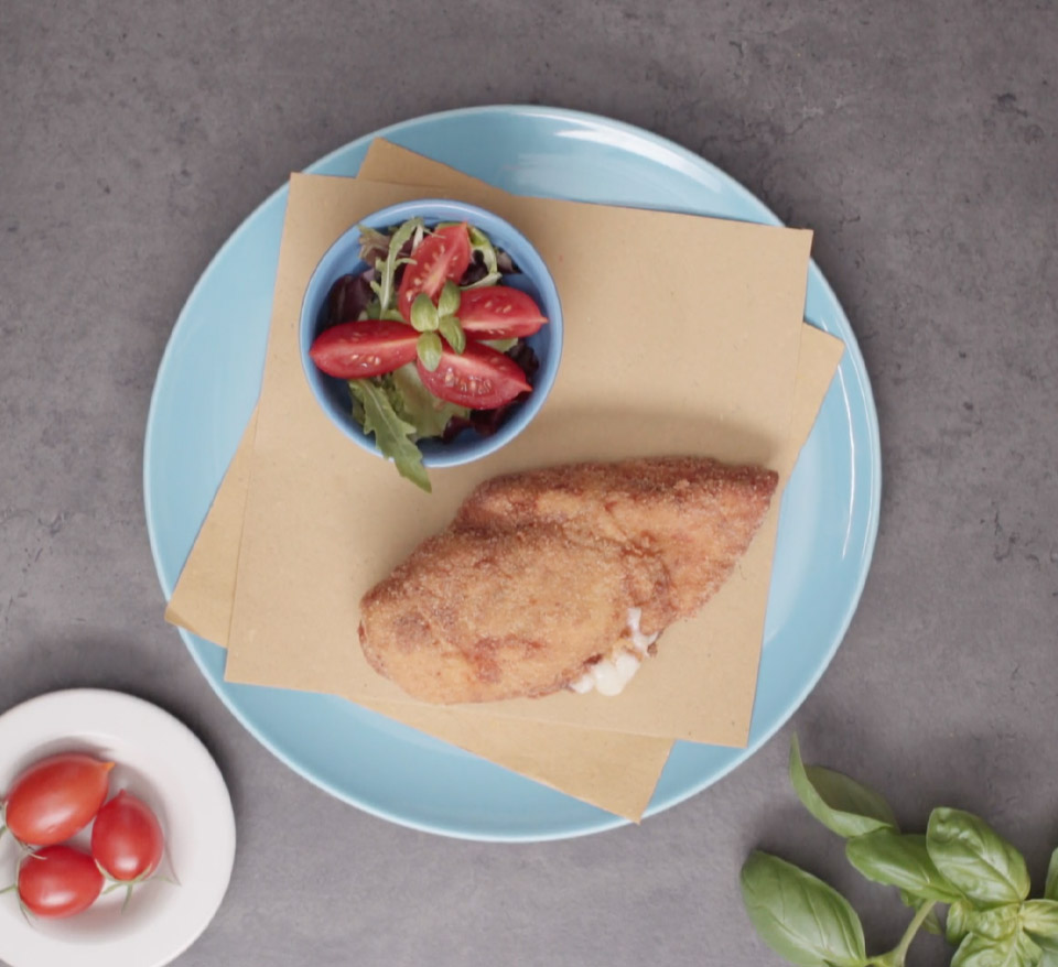Stuffed chicken with scamorza cheese
